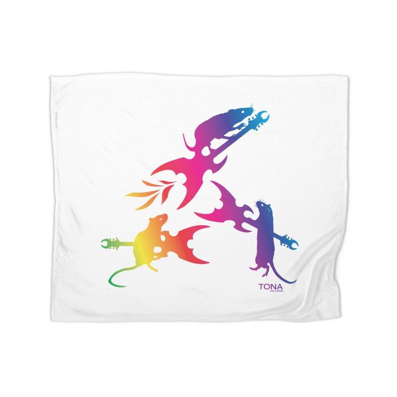 Rainbow Metal Rats Home Blanket by Anapalana by Tona Williams Artist Shop