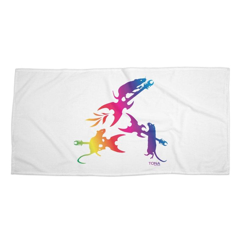 Rainbow Metal Rats Accessories Beach Towel by Anapalana by Tona Williams Artist Shop