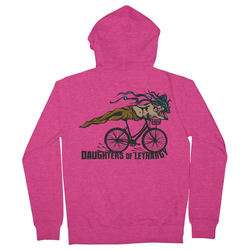 Daughters of Lethargy - Earth Tones Women's French Terry Zip-Up Hoody by Anapalana by Tona Williams Artist Shop