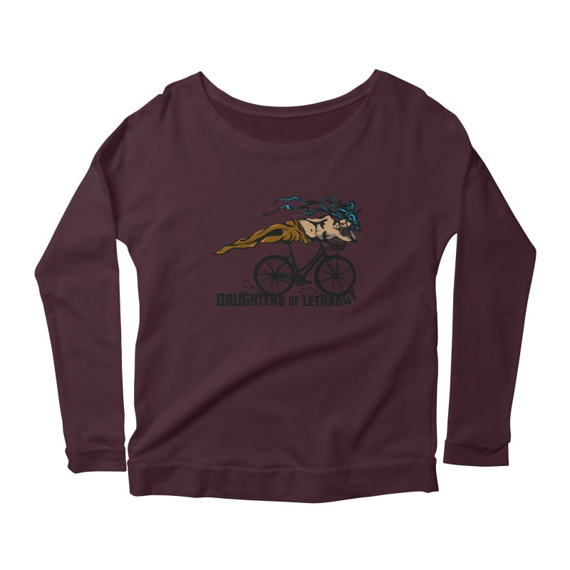 Daughters of Lethargy - Earth Tones Women's Longsleeve Scoopneck  by Anapalana by Tona Williams Artist Shop
