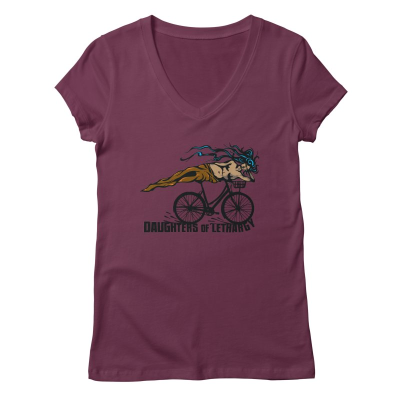 Daughters of Lethargy - Earth Tones Women's Regular V-Neck by Anapalana by Tona Williams Artist Shop