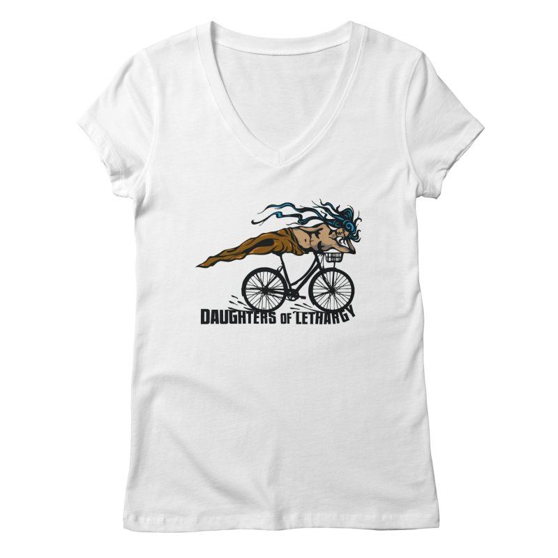 Daughters of Lethargy - Earth Tones Women's V-Neck by Anapalana by Tona Williams Artist Shop