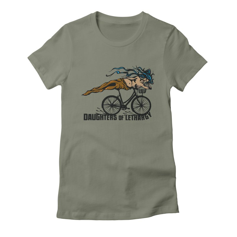 Daughters of Lethargy - Earth Tones Women's Fitted T-Shirt by Anapalana by Tona Williams Artist Shop