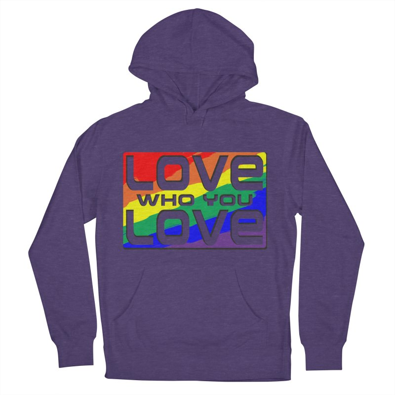 Love Who You Love - large square Women's Pullover Hoody by Anapalana by Tona Williams Artist Shop