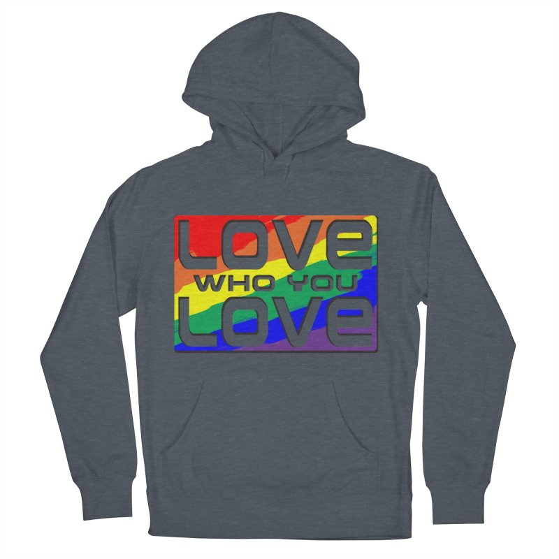 Love Who You Love - large square Men's French Terry Pullover Hoody by Anapalana by Tona Williams Artist Shop