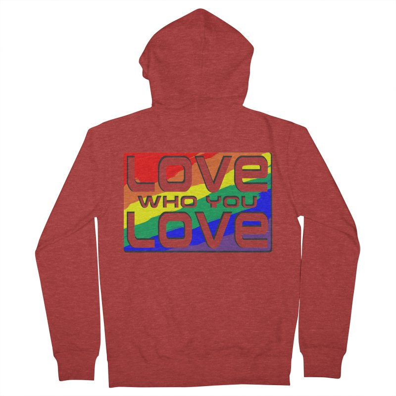 Love Who You Love - large square Women's French Terry Zip-Up Hoody by Anapalana by Tona Williams Artist Shop