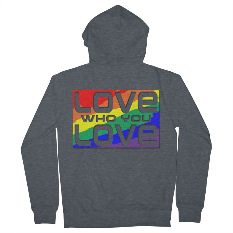 Love Who You Love - large square Men's Zip-Up Hoody by Anapalana by Tona Williams Artist Shop