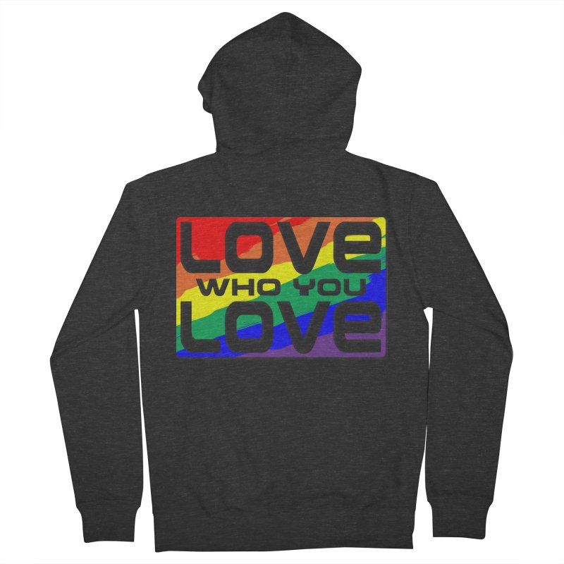 Love Who You Love - large square Men's French Terry Zip-Up Hoody by Anapalana by Tona Williams Artist Shop