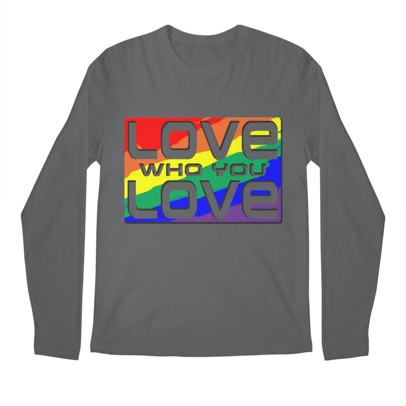 Love Who You Love - large square Men's Regular Longsleeve T-Shirt by Anapalana by Tona Williams Artist Shop