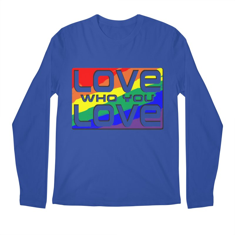 Love Who You Love - large square Men's Longsleeve T-Shirt by Anapalana by Tona Williams Artist Shop