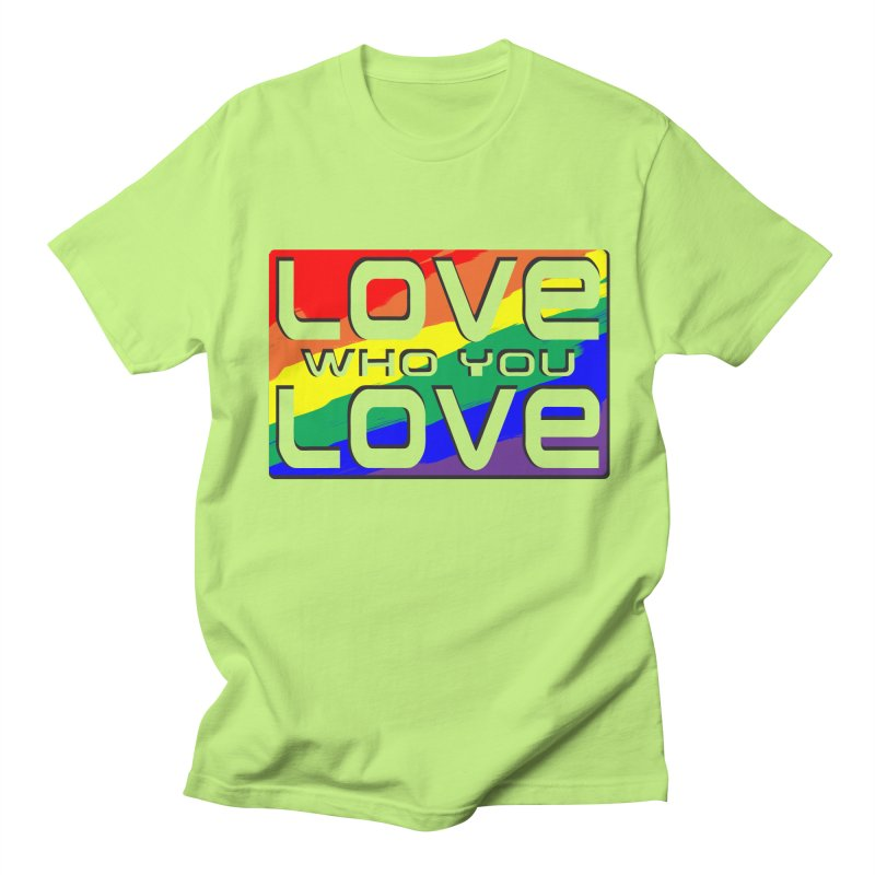 Love Who You Love - large square Men's T-Shirt by Anapalana by Tona Williams Artist Shop