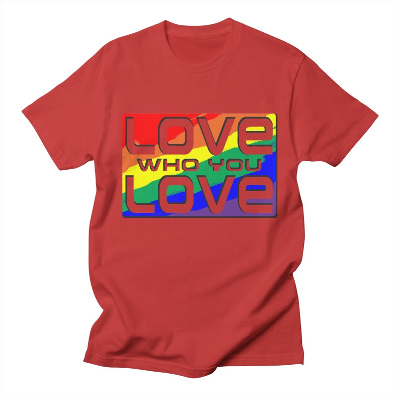Love Who You Love - large square Men's Regular T-Shirt by Anapalana by Tona Williams Artist Shop