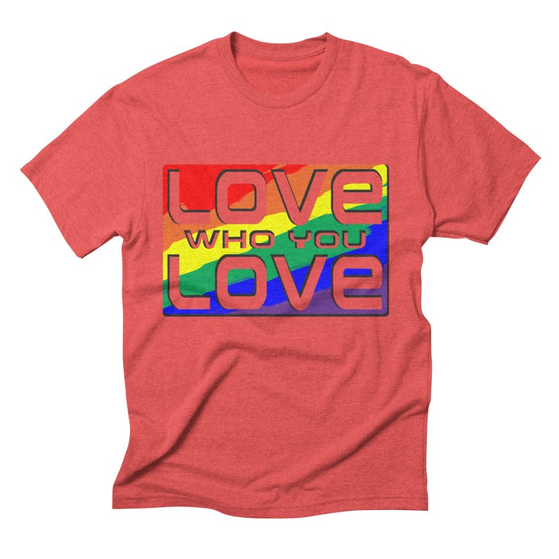 Love Who You Love - large square Men's Triblend T-Shirt by Anapalana by Tona Williams Artist Shop