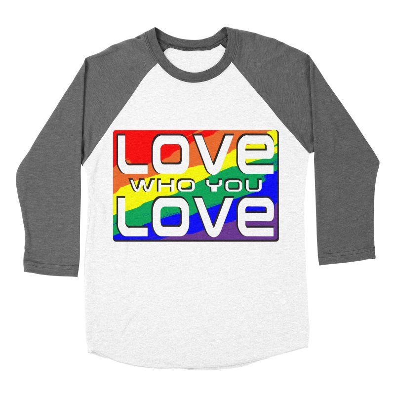 Love Who You Love - large square Men's Baseball Triblend Longsleeve T-Shirt by Anapalana by Tona Williams Artist Shop