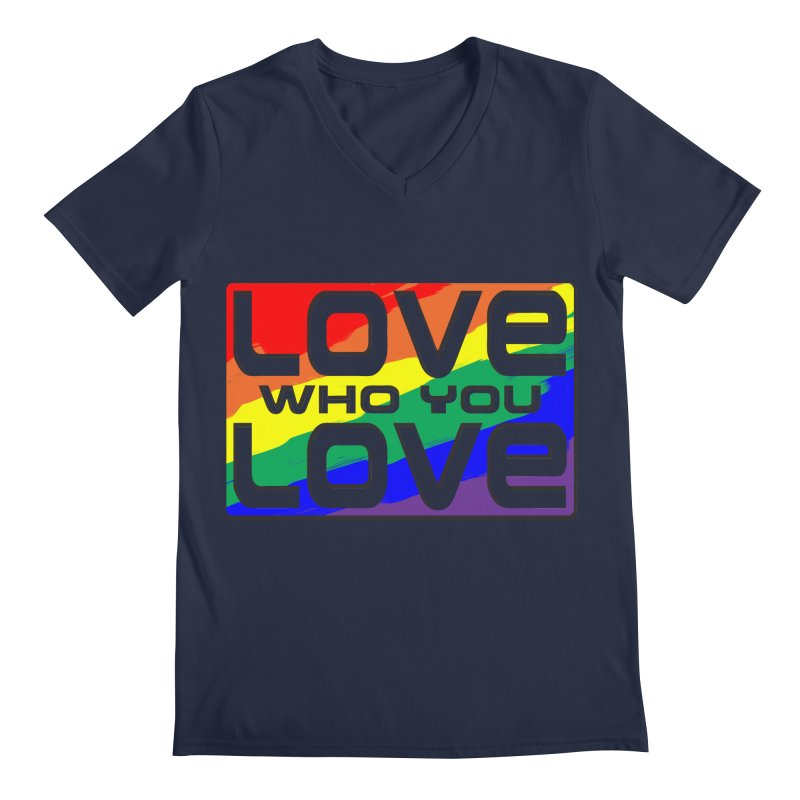 Love Who You Love - large square Men's V-Neck by Anapalana by Tona Williams Artist Shop