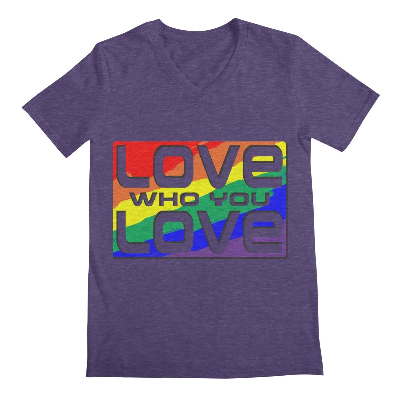 Love Who You Love - large square Men's Regular V-Neck by Anapalana by Tona Williams Artist Shop