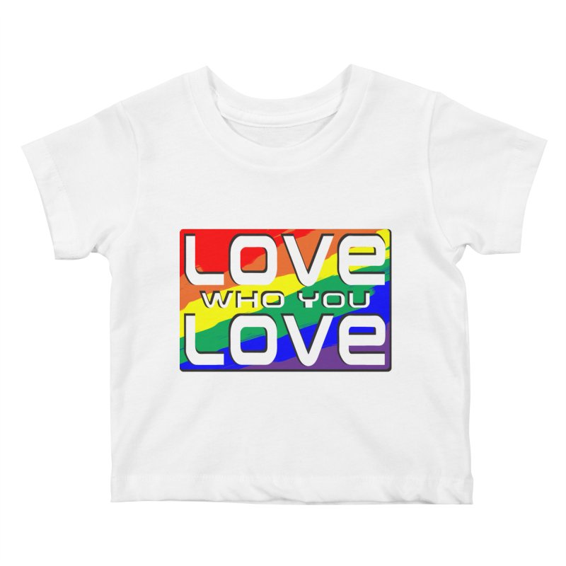 Love Who You Love - large square Kids Baby T-Shirt by Anapalana by Tona Williams Artist Shop