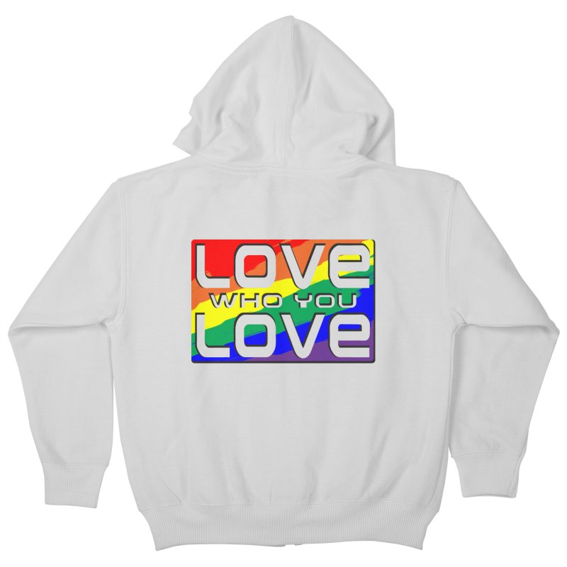 Love Who You Love - large square Kids Zip-Up Hoody by Anapalana by Tona Williams Artist Shop