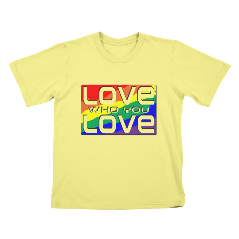 Love Who You Love - large square Kids T-shirt by Anapalana by Tona Williams Artist Shop