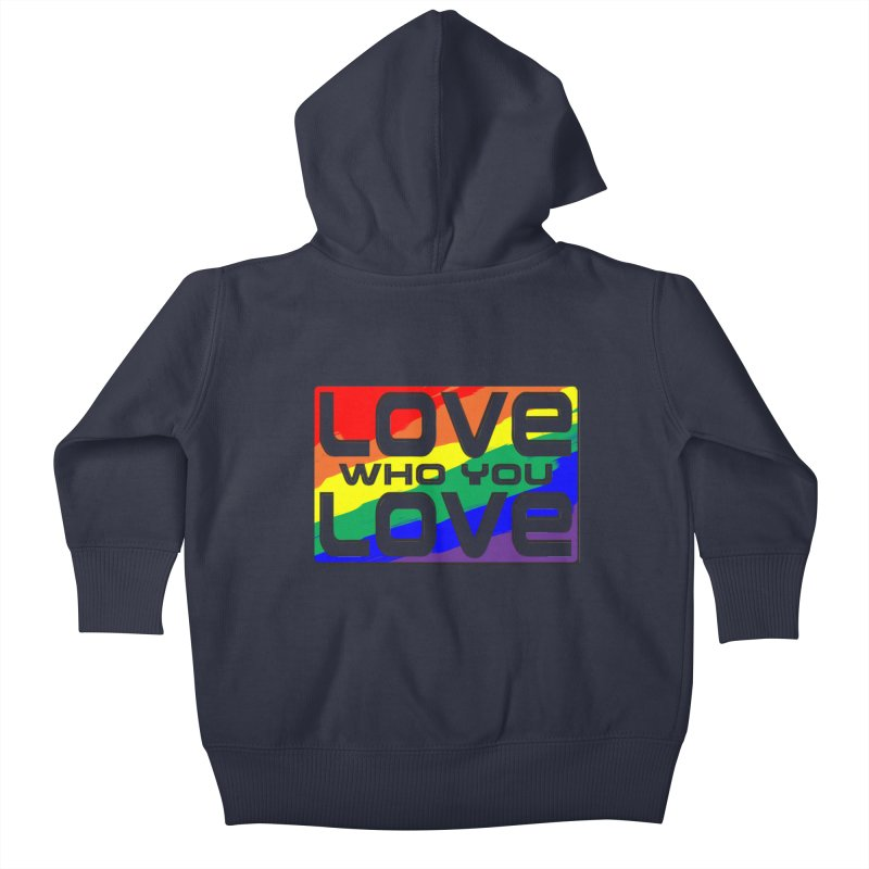 Love Who You Love - large square Kids Baby Zip-Up Hoody by Anapalana by Tona Williams Artist Shop