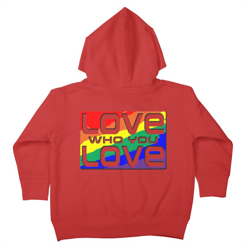 Love Who You Love - large square Kids Toddler Zip-Up Hoody by Anapalana by Tona Williams Artist Shop