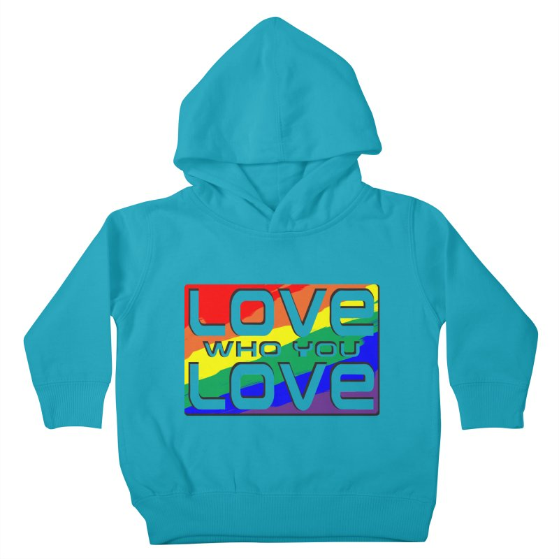 Love Who You Love - large square Kids Toddler Pullover Hoody by Anapalana by Tona Williams Artist Shop