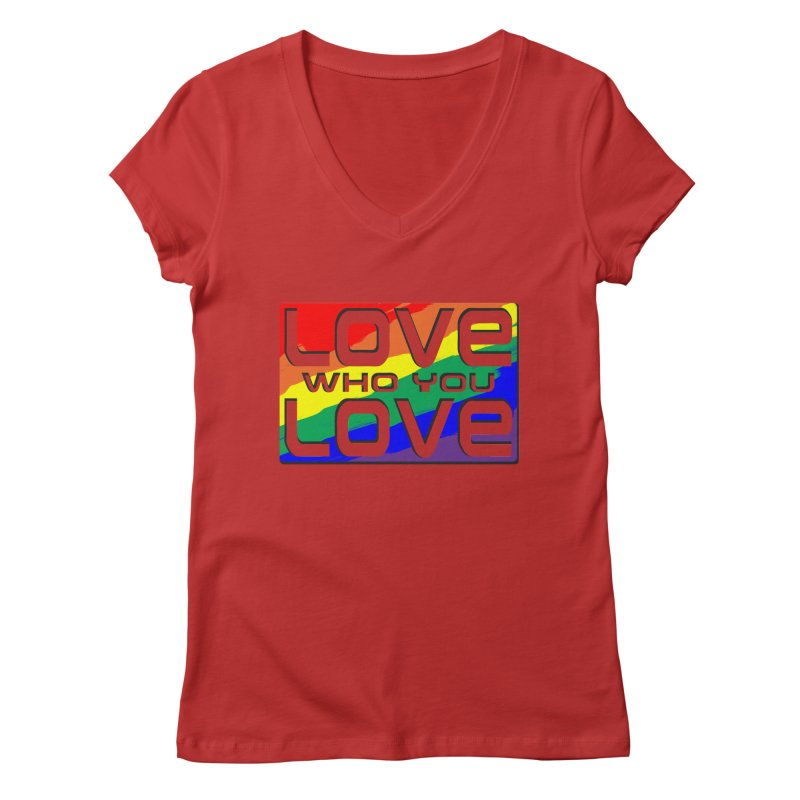 Love Who You Love - large square Women's V-Neck by Anapalana by Tona Williams Artist Shop