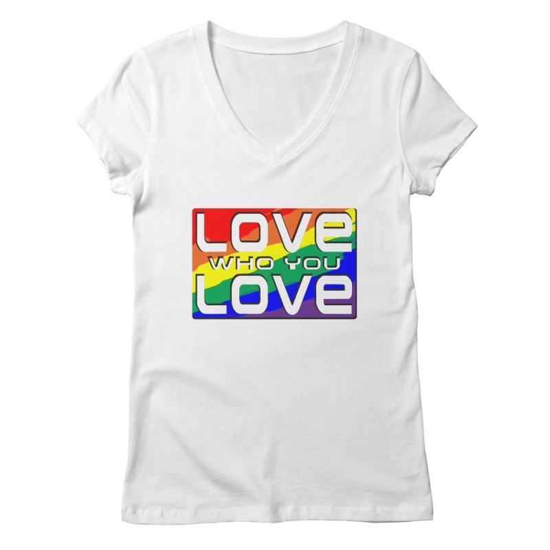 Love Who You Love - large square Women's Regular V-Neck by Anapalana by Tona Williams Artist Shop