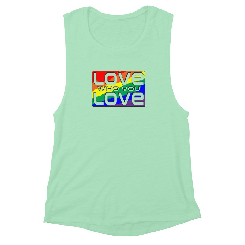 Love Who You Love - large square Women's Muscle Tank by Anapalana by Tona Williams Artist Shop