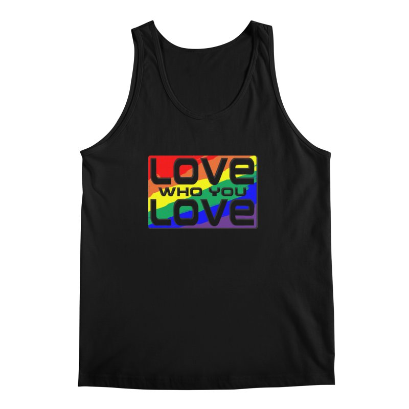 Love Who You Love - large square Men's Tank by Anapalana by Tona Williams Artist Shop