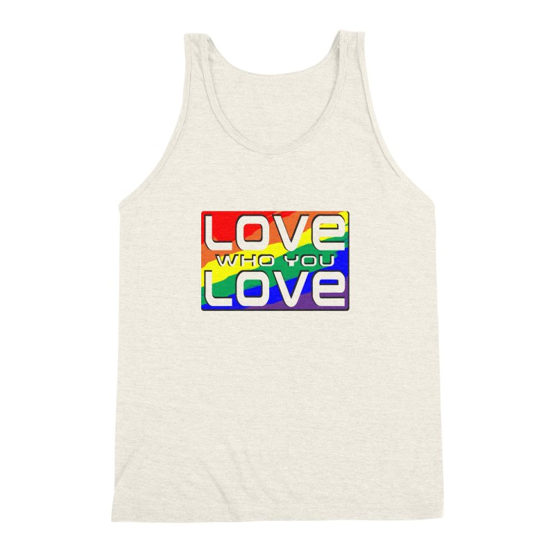 Love Who You Love - large square Men's Triblend Tank by Anapalana by Tona Williams Artist Shop