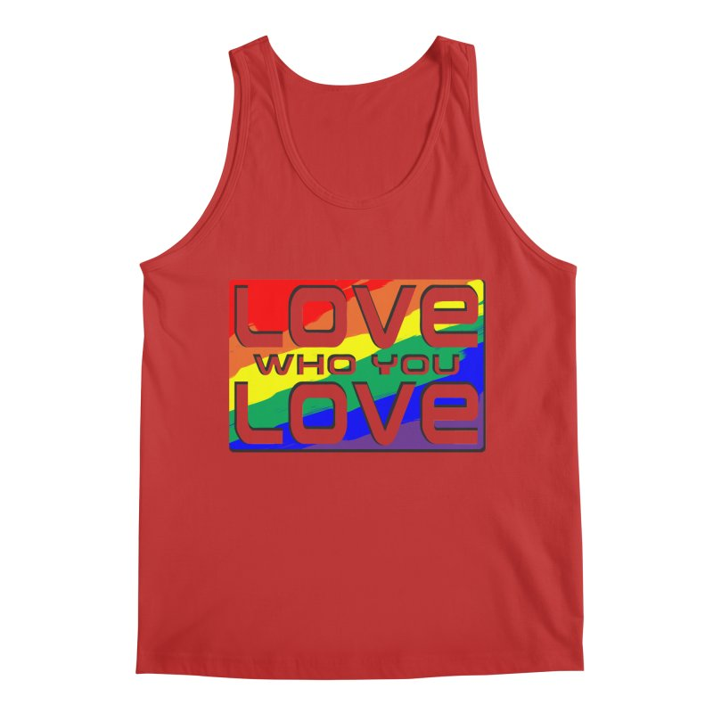 Love Who You Love - large square Men's Regular Tank by Anapalana by Tona Williams Artist Shop