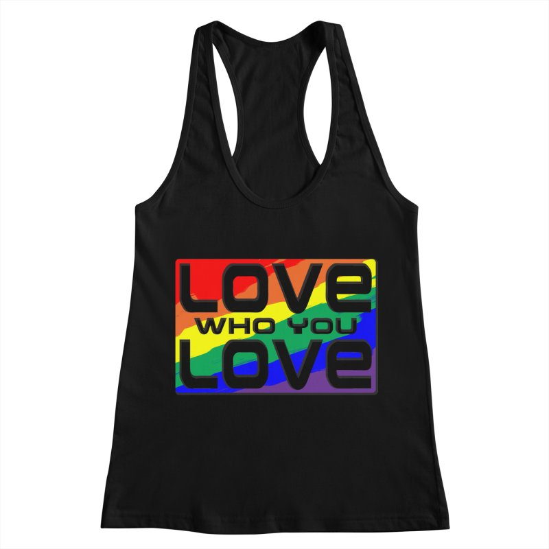 Love Who You Love - large square Women's Racerback Tank by Anapalana by Tona Williams Artist Shop