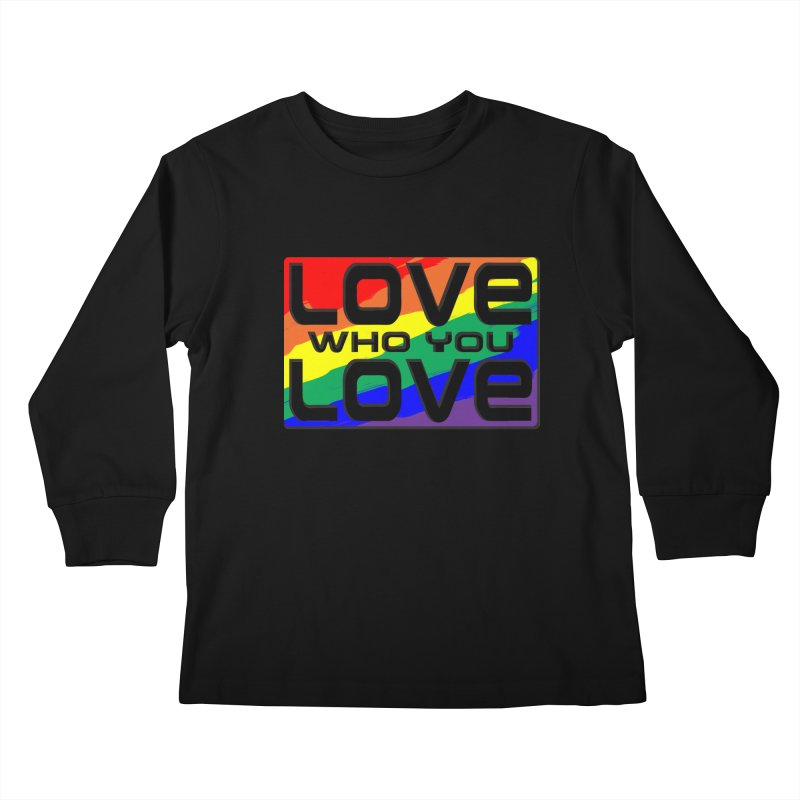 Love Who You Love - large square Kids Longsleeve T-Shirt by Anapalana by Tona Williams Artist Shop