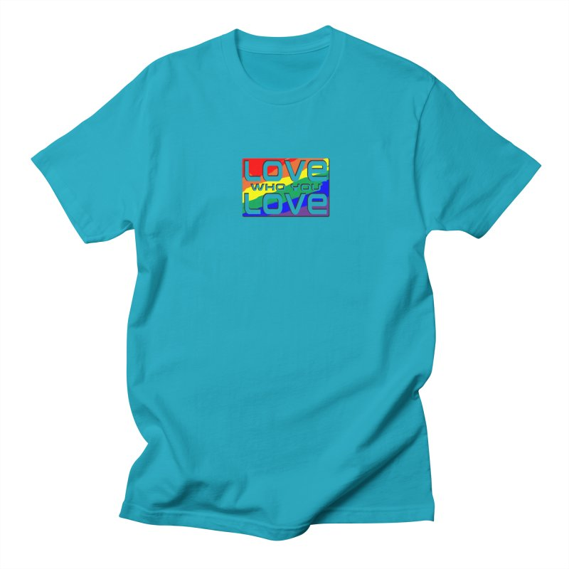 Love Who You Love - small square Men's T-Shirt by Anapalana by Tona Williams Artist Shop