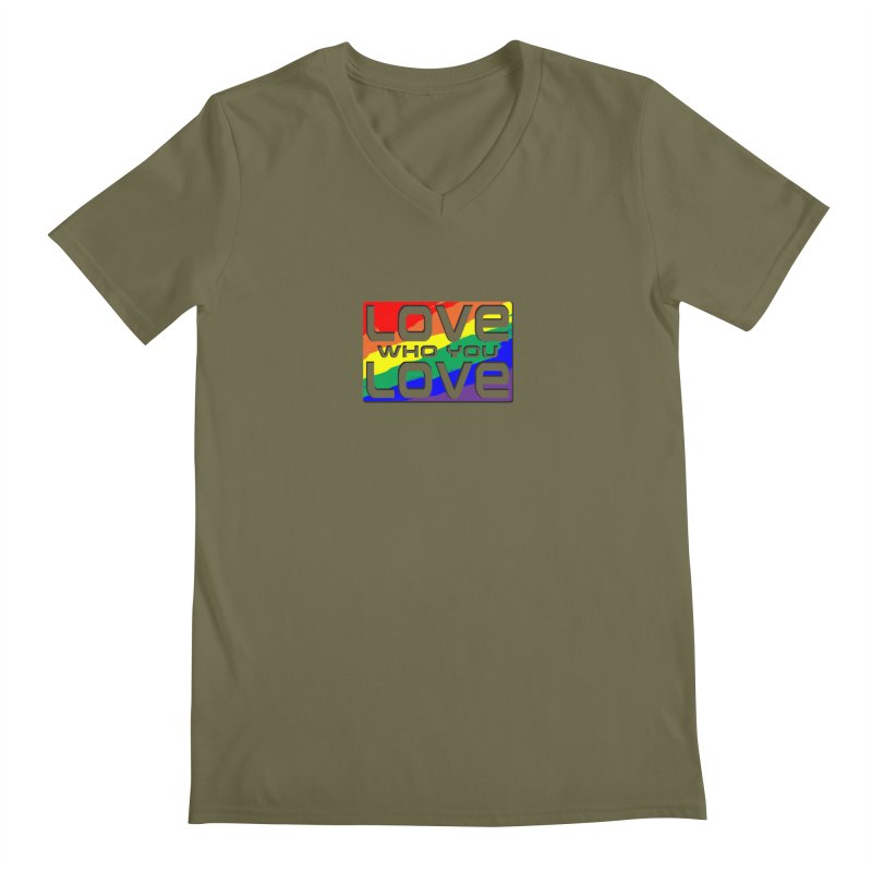 Love Who You Love - small square Men's V-Neck by Anapalana by Tona Williams Artist Shop