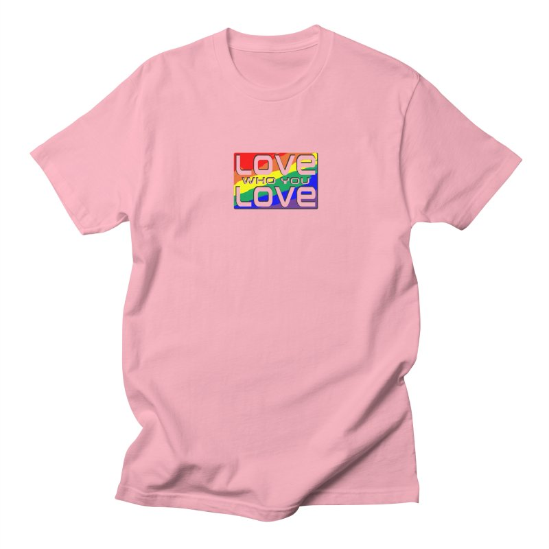 Love Who You Love - small square Men's Regular T-Shirt by Anapalana by Tona Williams Artist Shop