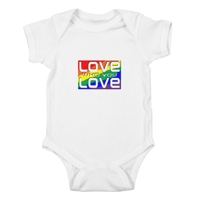 Love Who You Love - small square Kids Baby Bodysuit by Anapalana by Tona Williams Artist Shop