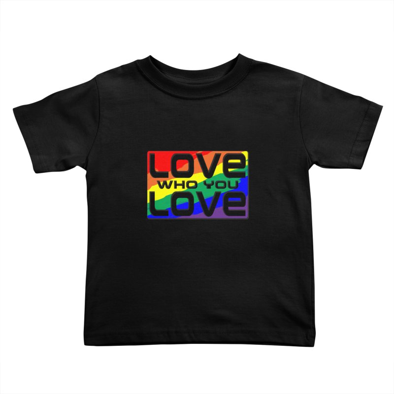 Love Who You Love - small square Kids Toddler T-Shirt by Anapalana by Tona Williams Artist Shop