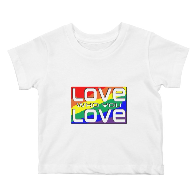 Love Who You Love - small square Kids Baby T-Shirt by Anapalana by Tona Williams Artist Shop