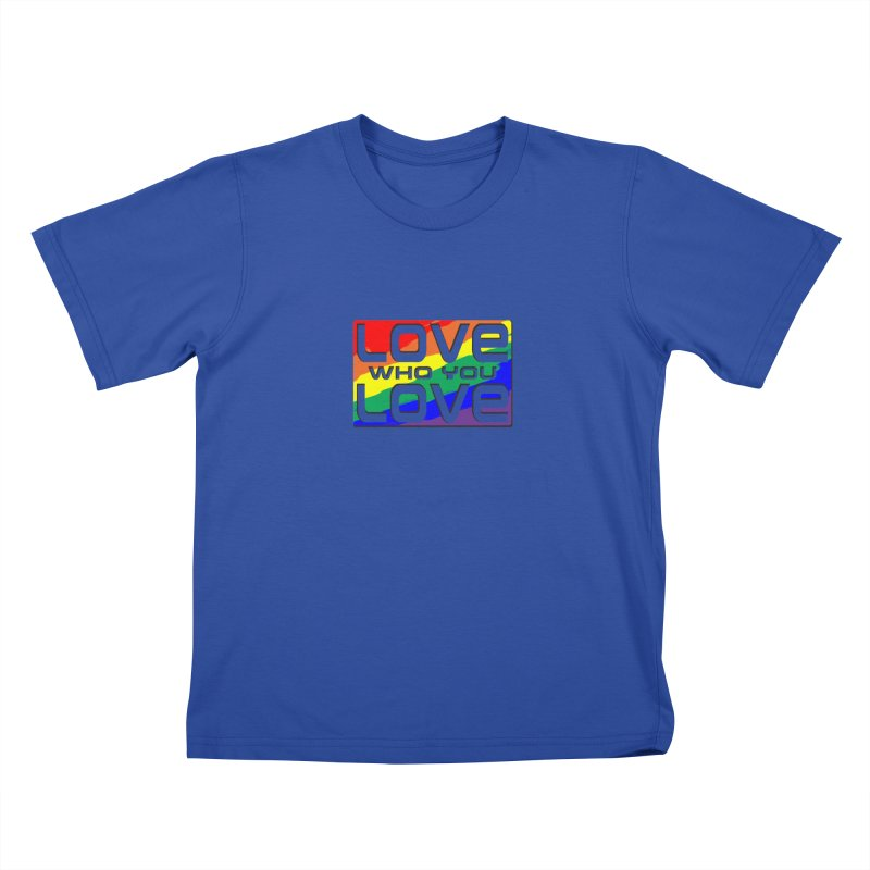 Love Who You Love - small square Kids T-Shirt by Anapalana by Tona Williams Artist Shop