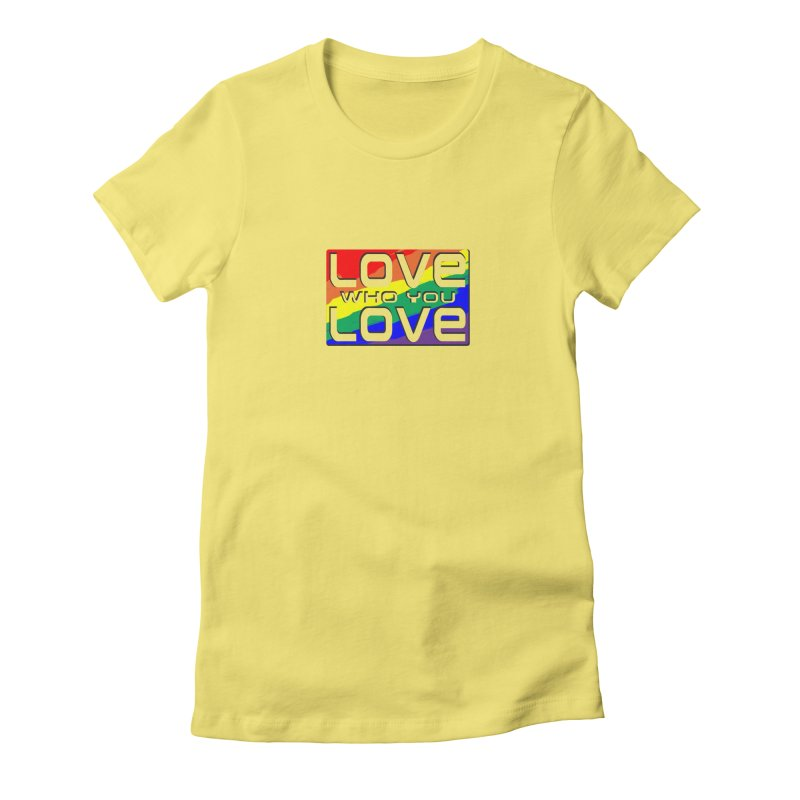 Love Who You Love - small square Women's T-Shirt by Anapalana by Tona Williams Artist Shop