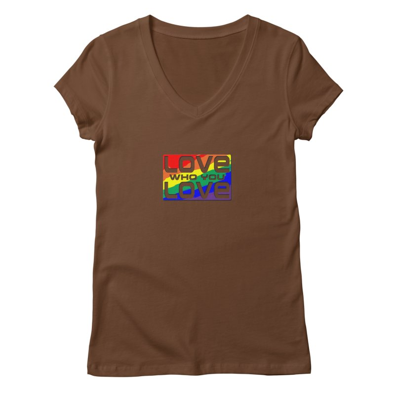 Love Who You Love - small square Women's Regular V-Neck by Anapalana by Tona Williams Artist Shop