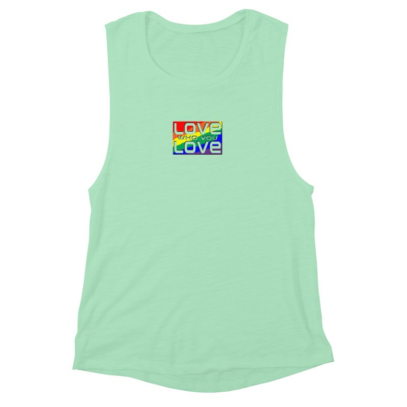 Love Who You Love - small square Women's Muscle Tank by Anapalana by Tona Williams Artist Shop