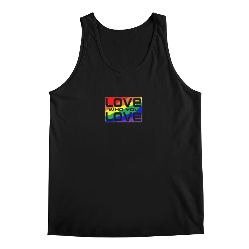 Love Who You Love - small square in Men's Regular Tank Black by Anapalana by Tona Williams Artist Shop