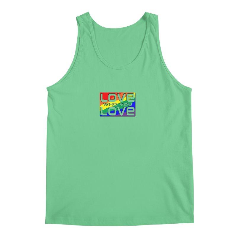 Love Who You Love - small square Men's Tank by Anapalana by Tona Williams Artist Shop