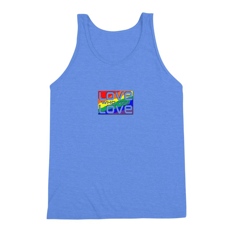 Love Who You Love - small square Men's Tank by Anapalana by Tona Williams Artist Shop