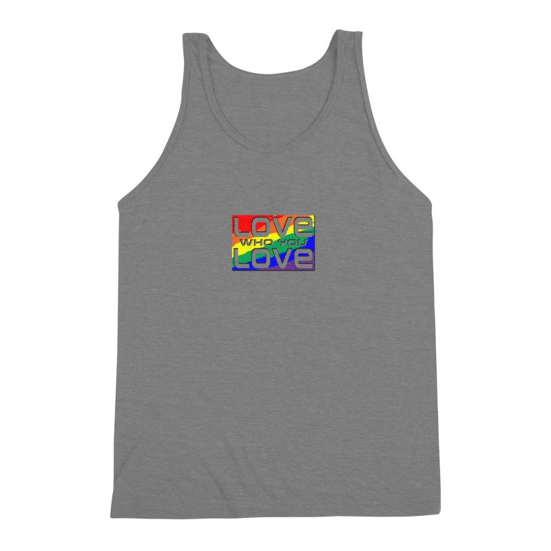Love Who You Love - small square Men's Triblend Tank by Anapalana by Tona Williams Artist Shop