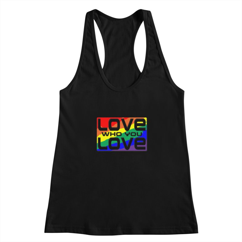 Love Who You Love - small square Women's Racerback Tank by Anapalana by Tona Williams Artist Shop