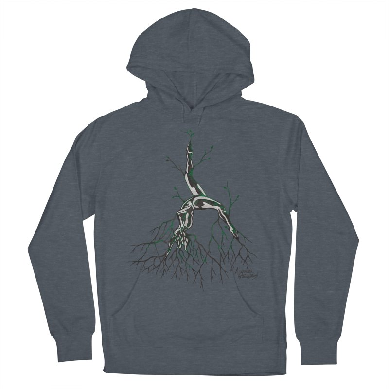 Tree Dancer 3 - Earth Tones Men's French Terry Pullover Hoody by Anapalana by Tona Williams Artist Shop